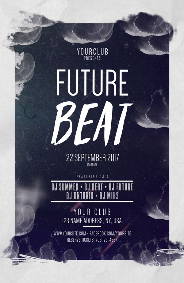 Future Beat Free PSD Flyers Template #freepsdfiles #freepsdgraphics #freepsdmockups #freebies