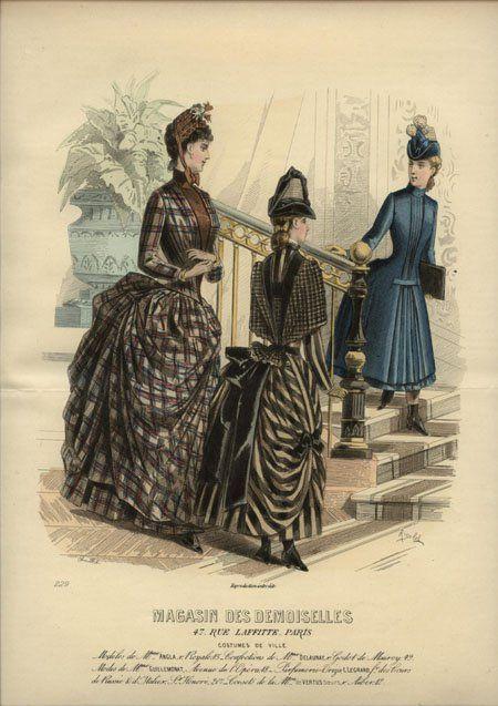 """Ich würde gerne alle 3 davon nachbauen! Sie sehen so lustig und bequem aus – """"Costumes de Ville"""" Magasin des Demoiselles 1887"""
