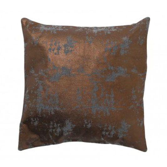 Copper and Grey Metallic Cushion