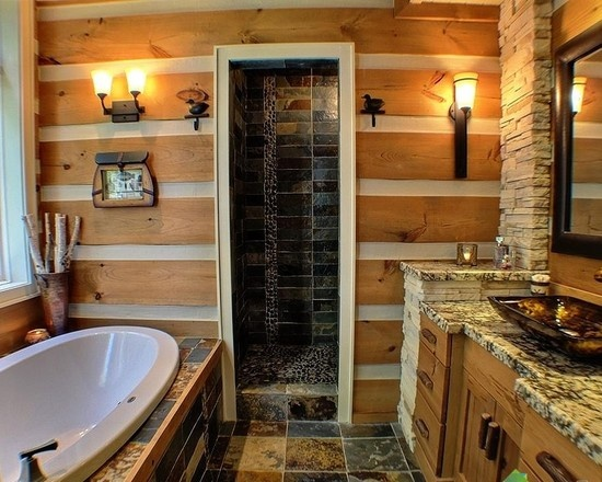 Rustic Shower Design