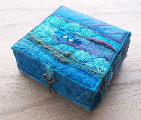Textile trinket box by Aileen Clarke on Etsy.com