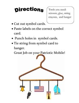 PATRIOTIC SYMBOLS: UNITED STATES SYMBOLS ART MOBILE  $