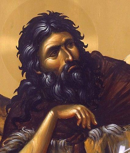 Святой Пророк Илия. Икона написана в мастерской афонского монастыря Ватопед. Лик.