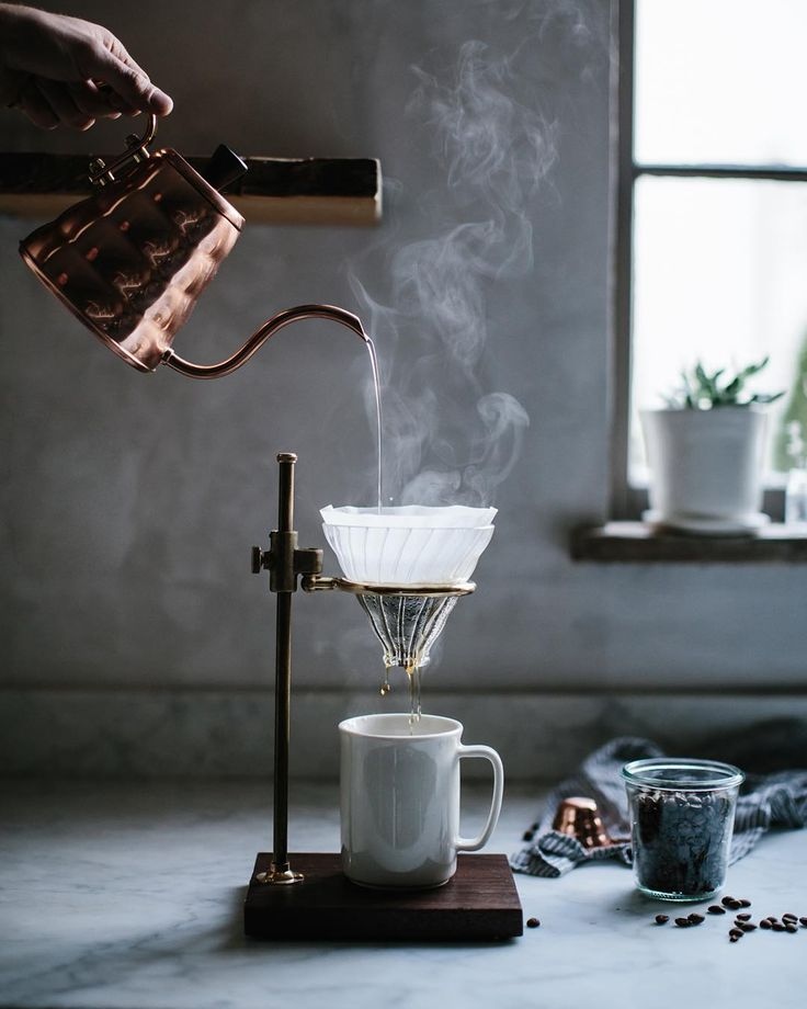 @matthewlud & I teamed up with @kaufmannmercantile to write home brewing guides! Find the guides for pour over & French press on the blog now! Link in profile. And if you're smitten with this kettle or gorgeous brass & walnut pour over stand you can find it at @kaufmannmercantile! #slowcoffee #pourover #theartofslowliving by local_milk