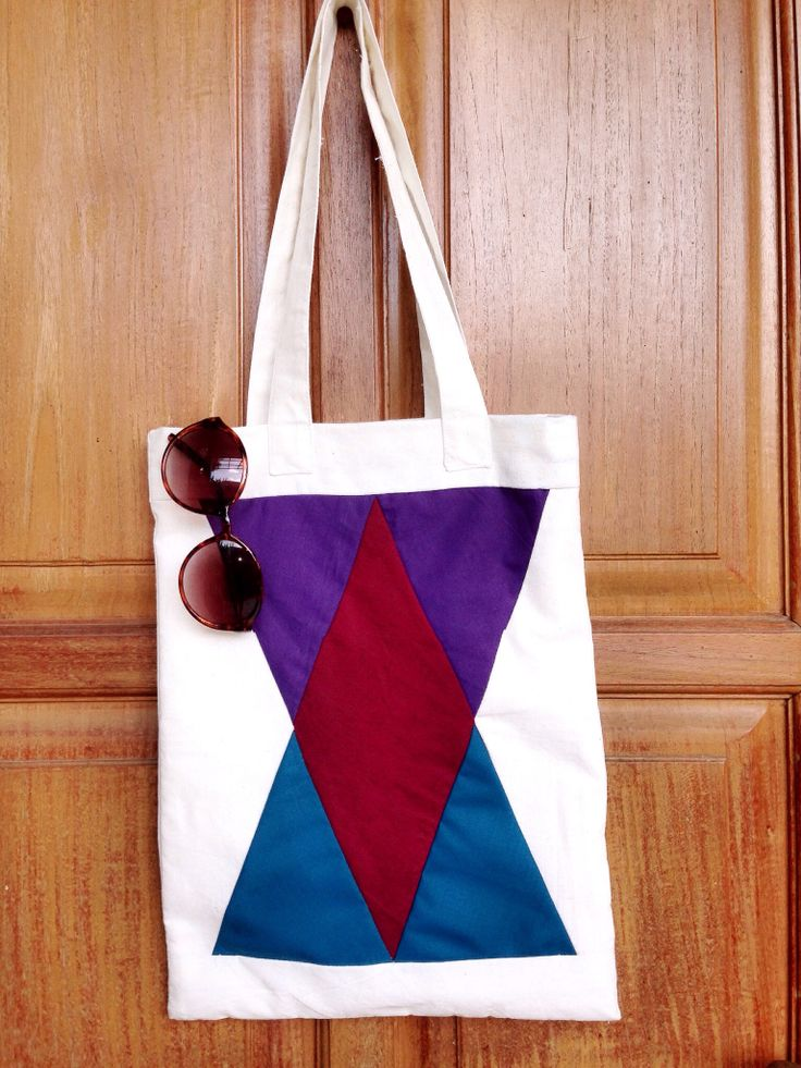 Gunks -totebag color triangle- IDR 130.000 #gunks#totebag#color#triangle#indonesia#quilt#art