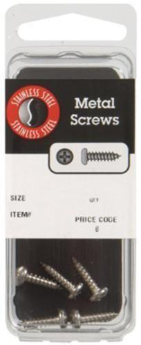 "Hillman 8059 Stainless Steel 300 Series Sheet Metal Screws, 6"" x 3/4"""