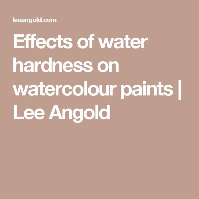 Coaugulazionedel pigmento in presenza di acqua dura------    Effects of water hardness on watercolour paints | Lee Angold