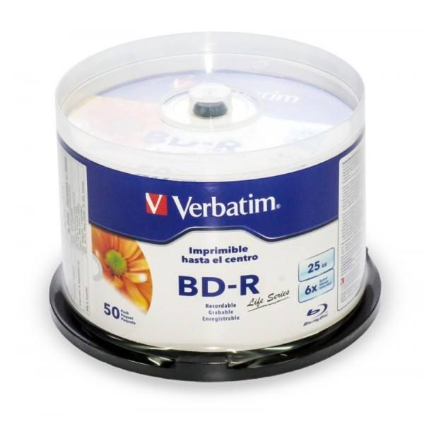 A huge range of #quality products like #BluRay Recordable White Wide Inkjet Printable 6X Speed 25GB 50Pack Spindle from VERBATIM INDIA are available for you on www.verbatimstore.in #Verbatim