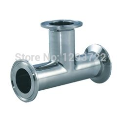 2''  51MM SS304 clamped tee, Tee Stainless steel, Stainless steel pipe fitting,clamp tee,Sanitary Tee