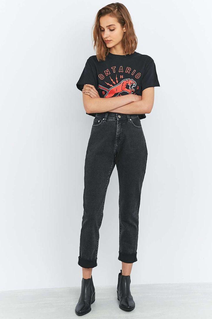 """Cheap Monday – Jeans """"Donna Case"""" in Grau mit geradem Bein"""