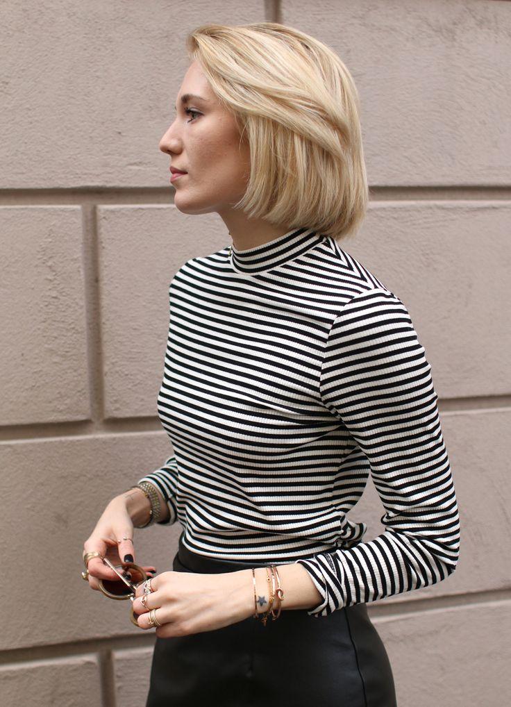 striped turtleneck ideas