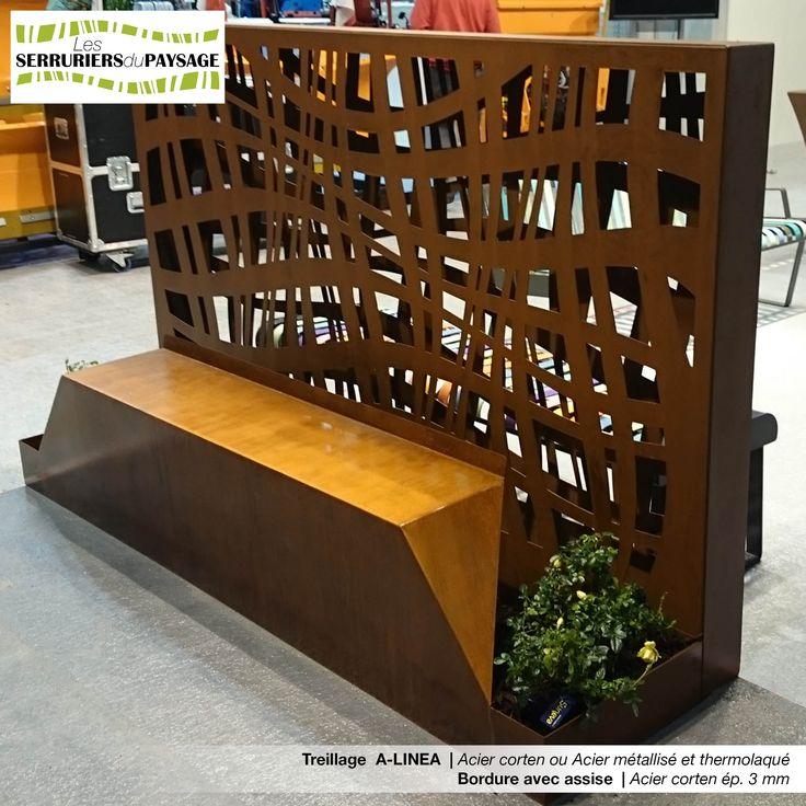 treillage en acier corten tuteurs treillages et claustras pinterest. Black Bedroom Furniture Sets. Home Design Ideas