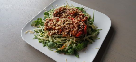 Courgetti bolognese - Lowcarbchef.nl