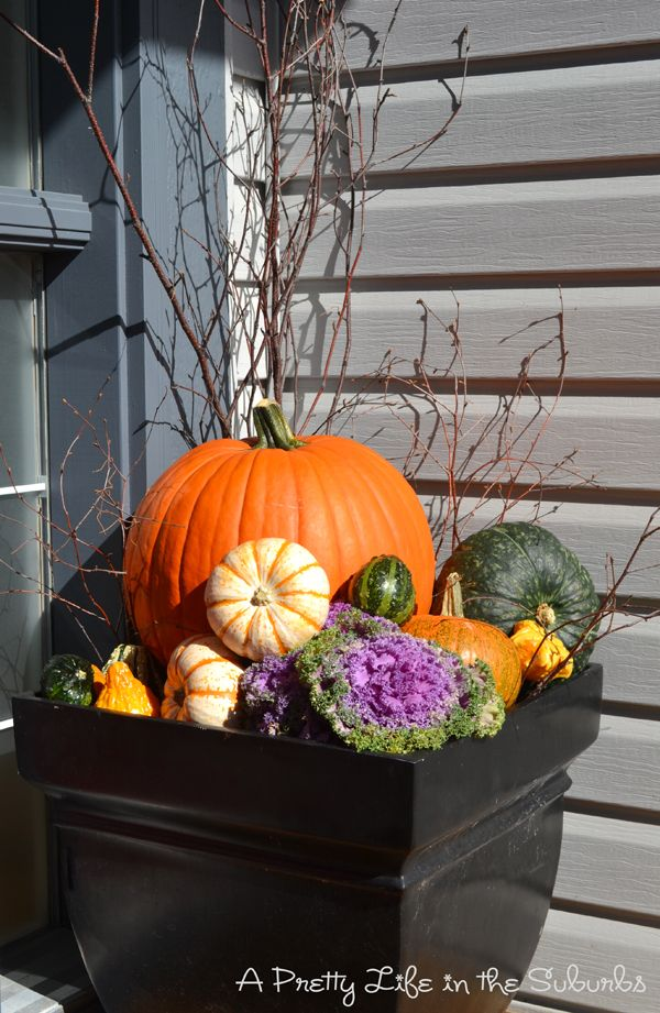 17 best ideas about fall flower pots on pinterest