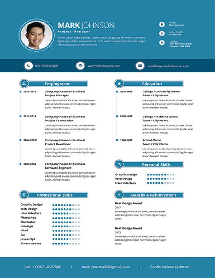 Modern Project Manager Resume Template Project Manager Resume Manager Resume Project Management Templates