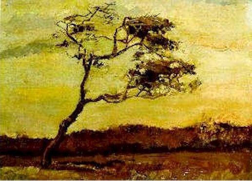 A Wind Beaten Tree,  Van Gogh - 1883