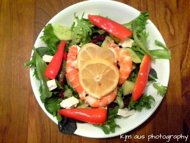 A little seafood salad