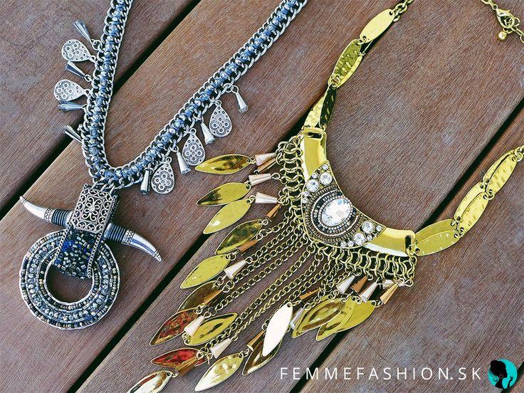1. Náhrdelník Seville Silver  http://femmefashion.sk/nahrdelniky/2759-nahrdelnik-seville-silver.html 2. Náhrdelník Passion Gold http://femmefashion.sk/nahrdelniky/2911-nahrdelnik-passion-gold.html
