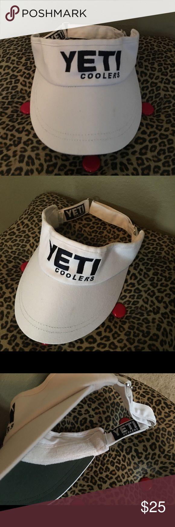 Yeti Sun Visor Awesome white & navy super popular Yeti sun visor ! Perfect summer Visor for the outdoors person :) Yeti Accessories Hats
