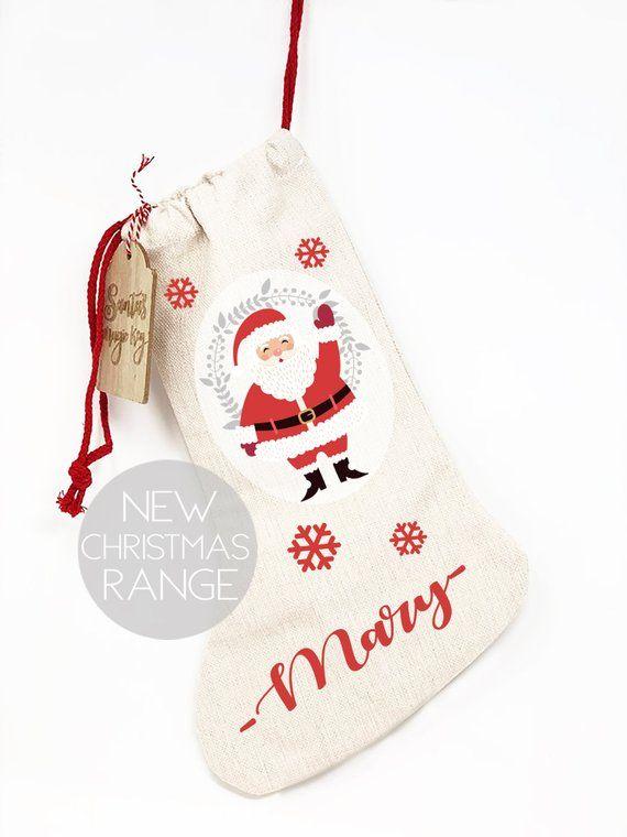 Personalised Kids Christmas Stocking Santa Stocking Etsy