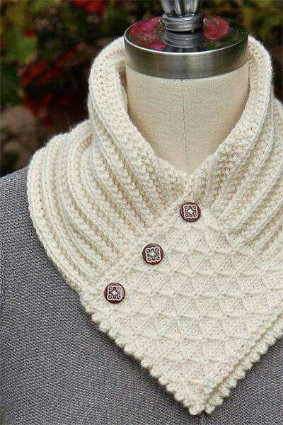 Mejores 13 imágenes de Crochet-bufandas en Pinterest | Bufandas ...