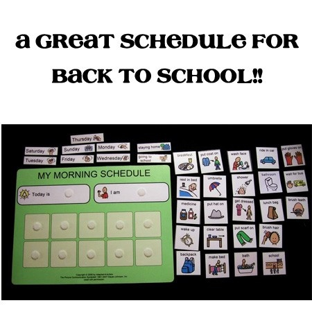 BACK to school PECS Morning Routine Schedule for Autism, ADHD. $15.95, via Etsy.
