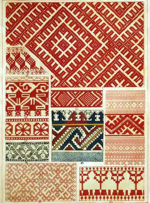 Русский старинный народный орнамент. Шитье,ткани,кружева. Обсуждение на LiveInternet - Российский Сервис…