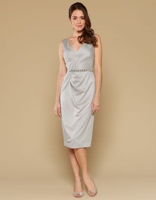 Kyla Dress | Silver | Monsoon