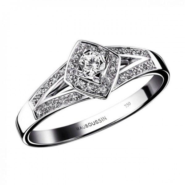 Bague de fiançailles en or blanc et diamants - Bague: Mauboussin, modèle Love my love - La Fiancée du Panda blog Mariage et Lifestyle