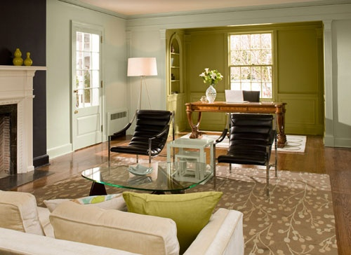 Color Study How Wall Can Affect Your Mood Green Accent WallsGreen