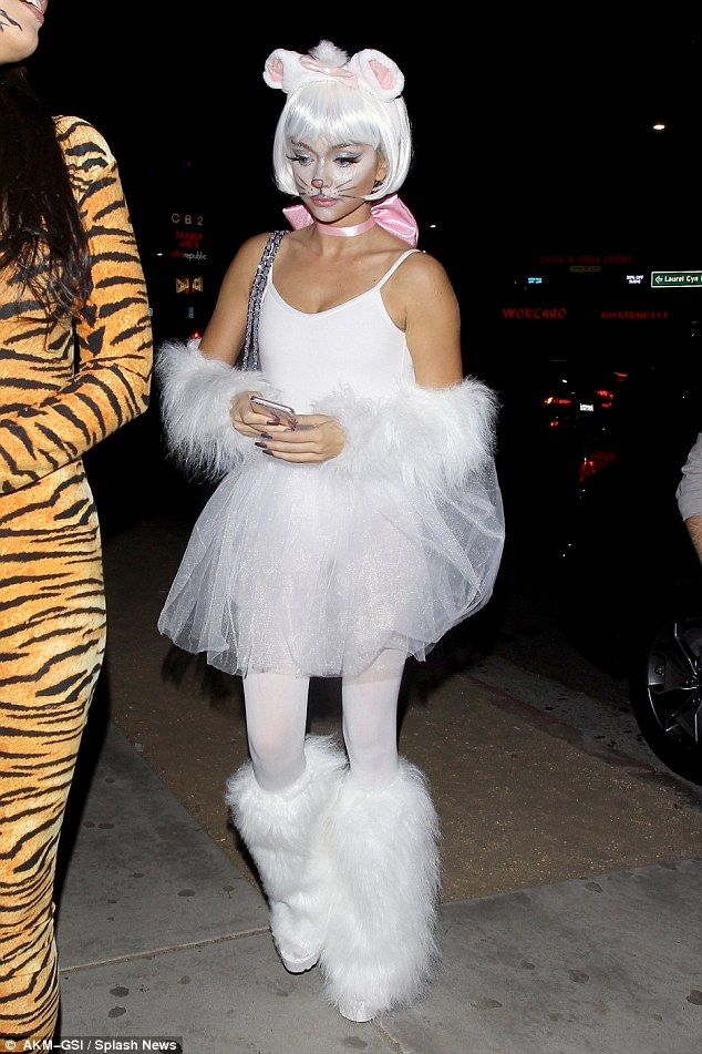 Cute as a button! The Modern Family star was dressed up as a sexy mouse for Halloween as s...