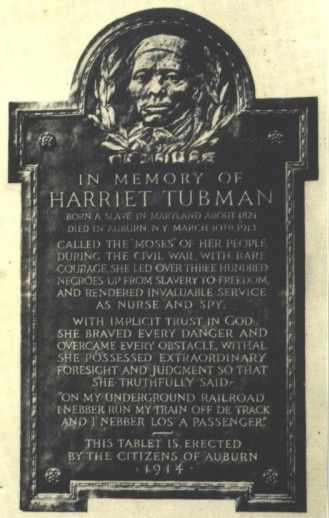 underground railroad  in cayuga county | IN MEMORY OF HARRIET TUBMAN