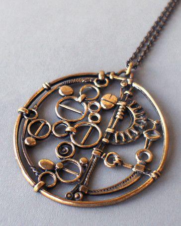 "Jorma Laine Oversized ""Machine"" Necklace"