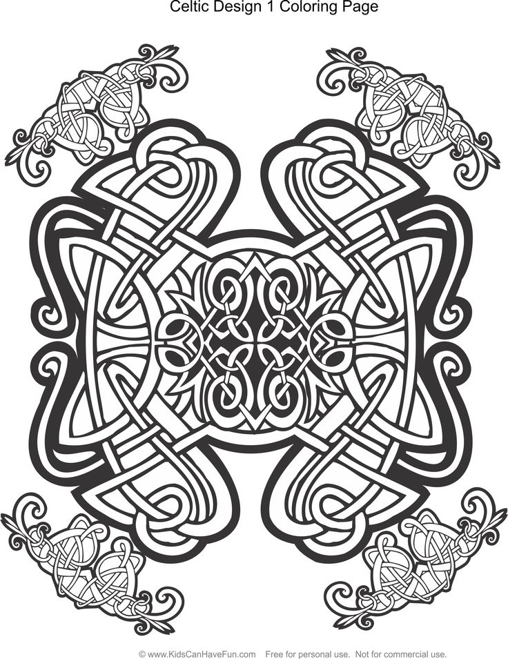 Celtic coloring pages for kids
