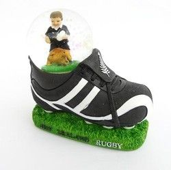 NZ Rugby Boy and Boot Snowglobe - rugby, snowglobe, boot, boy, nz, will, appeal, ... - Shopenzed.com