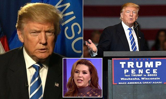 Trump goes after Alicia Machado for allegedly threatening to kill a judge | Daily Mail Online