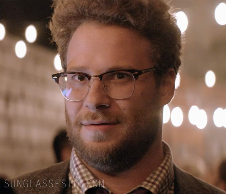 Seth Rogen Wears Ray Ban Rb5154 Clubmaster Eyeglasses In