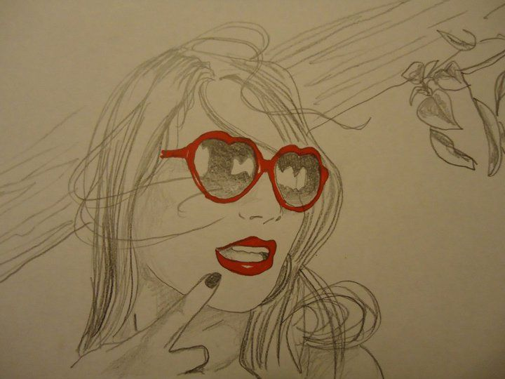 """Sketch """"Sexy Glasses"""" by Moma"""