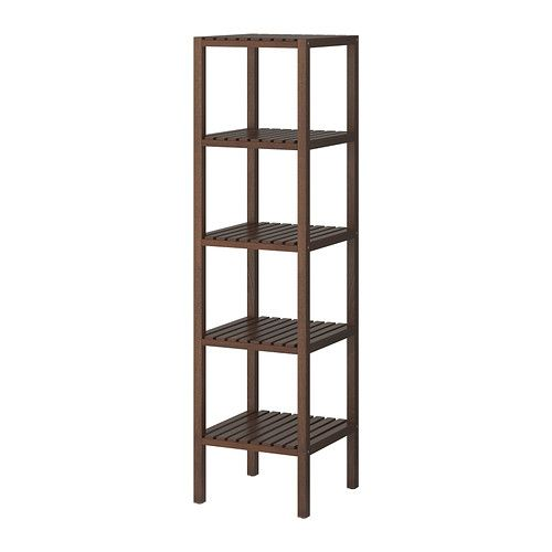 MOLGER Shelving unit IKEA The open shelves give a clear overview and easy access.