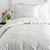 Snow leopard bedding!! It's not even funny how bad I want this. I've always wanted pure white bedding because it's so clean looking. But lately I'm obsessed with leopard. So why not mix the two?! I NEED THESE. please come back in stock!!! -Audrey