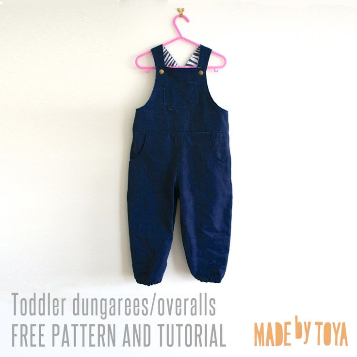 free toddler dungarees/overalls pattern tutorial