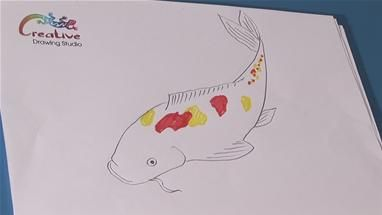 how to draw a koi fish in illustrator
