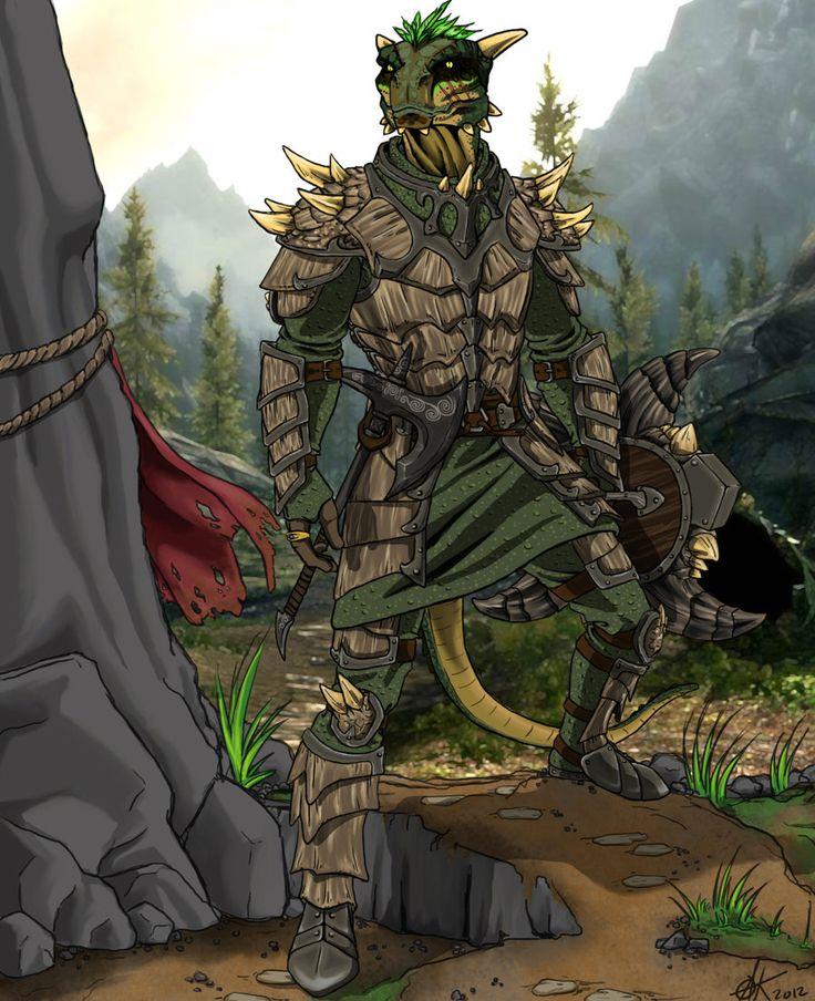 Argonian Warrior by ~canius on deviantART