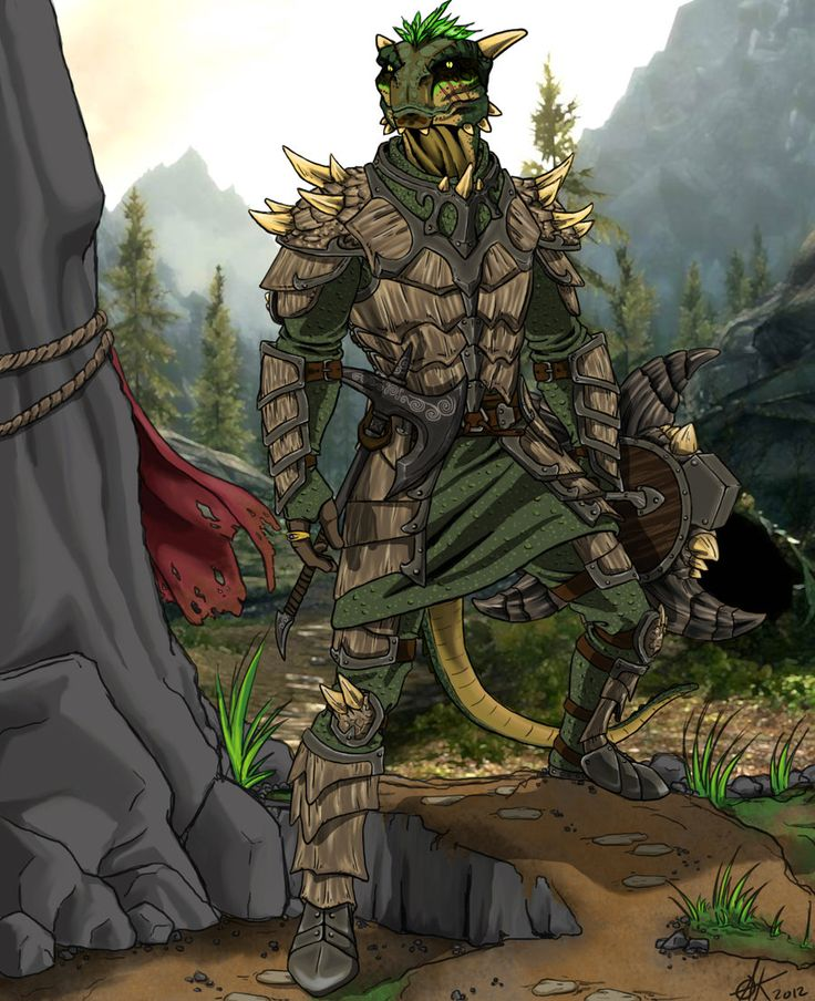 Argonian Warrior by ~canius on deviantART