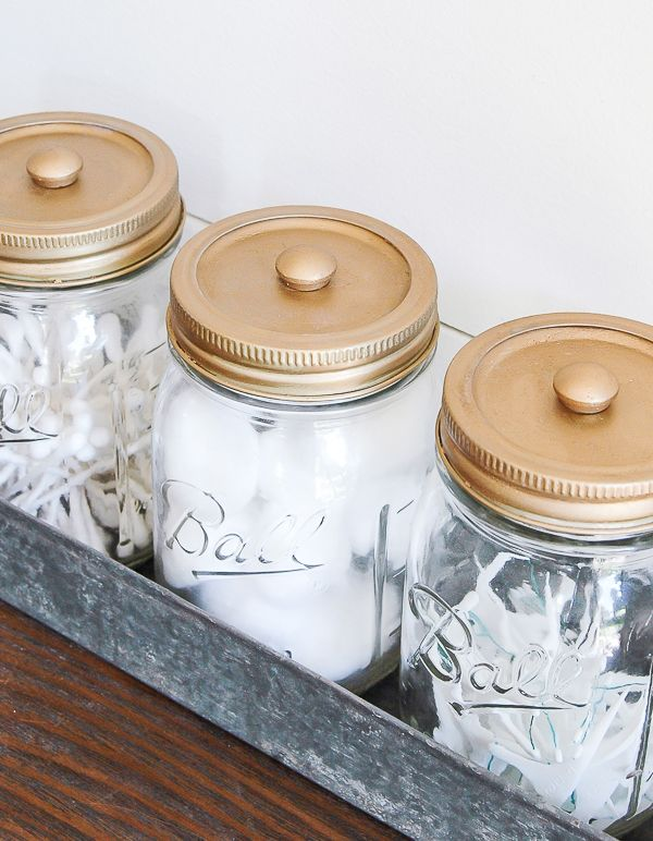 Decorative Mason Jar Bathroom Storage