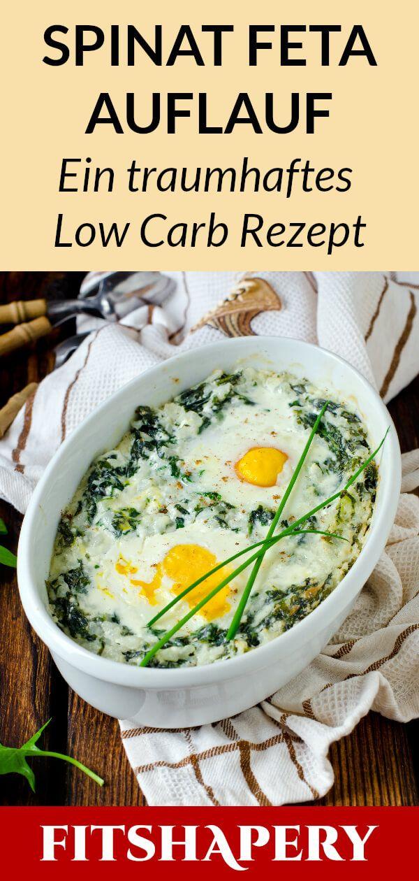 Dieser Low Carb Spinat Feta Auflauf ist gesund und…