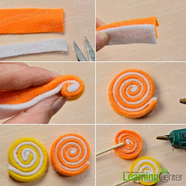 Wanna make craft for kids? If yes, you can never miss today's Pandahall tutorial on how to make colorful felt candy for kids~