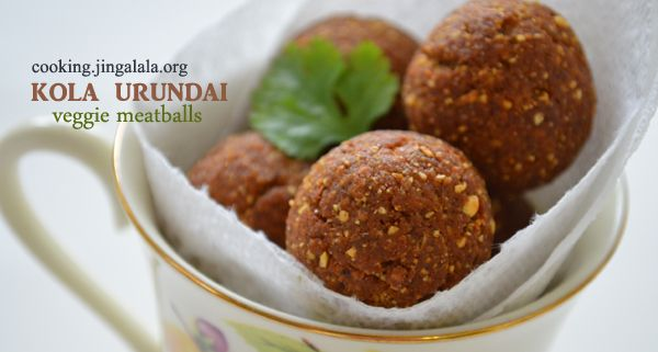 Vazhaikkai Kola Urundai Recipe - Step by Step Pictures (Veg Meatballs) | Cooking Jingalala