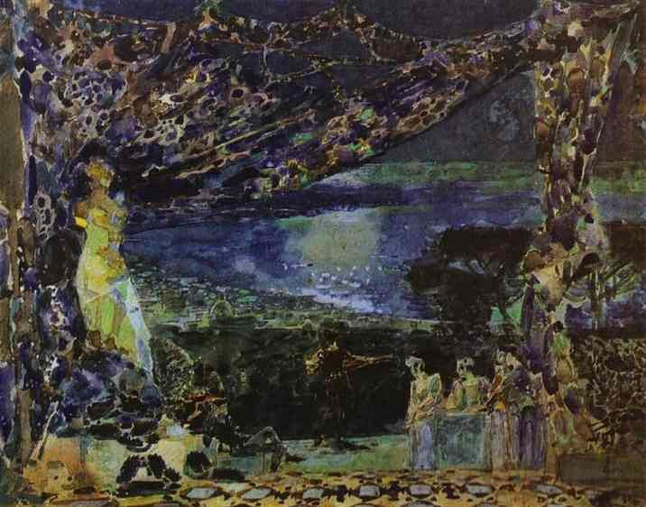 Mikhail Vrubel , sketch for opera curtain