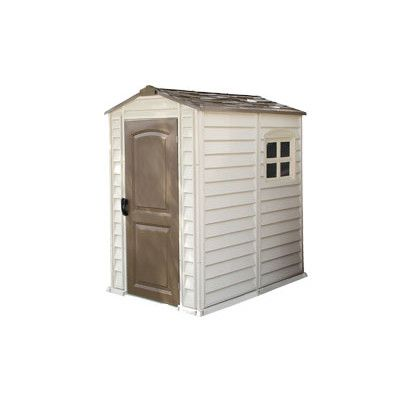 Duramax Building Products 4 Ft. W x 6 Ft. D Fire Retardant Vinyl Storage Shed